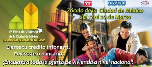 Feria Vivienda Ciudad de Mexico en el ZOCALO