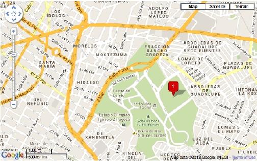 Mapa del Centro Expositor y de Convenciones de Puebla