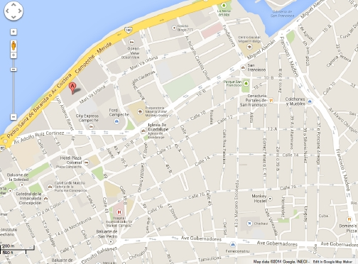 ¿Cómo llegar al Centro de Convenciones Campeche XXI ?